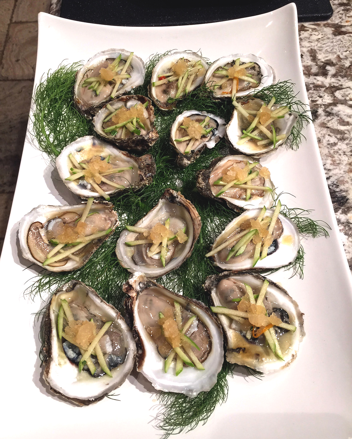 Personal chef park city apples oysters