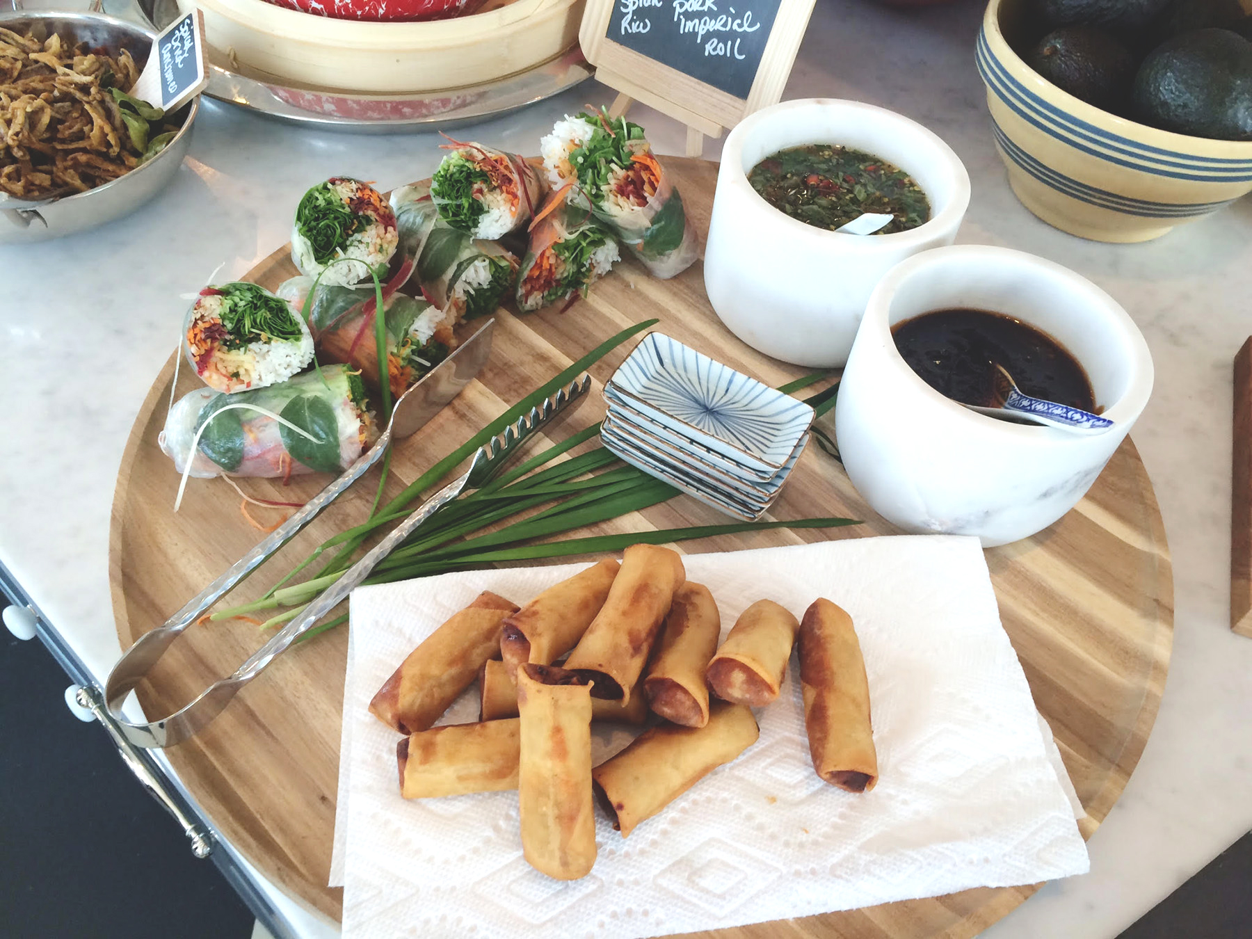 private chef park city world kitchen spring rolls imperial rolls