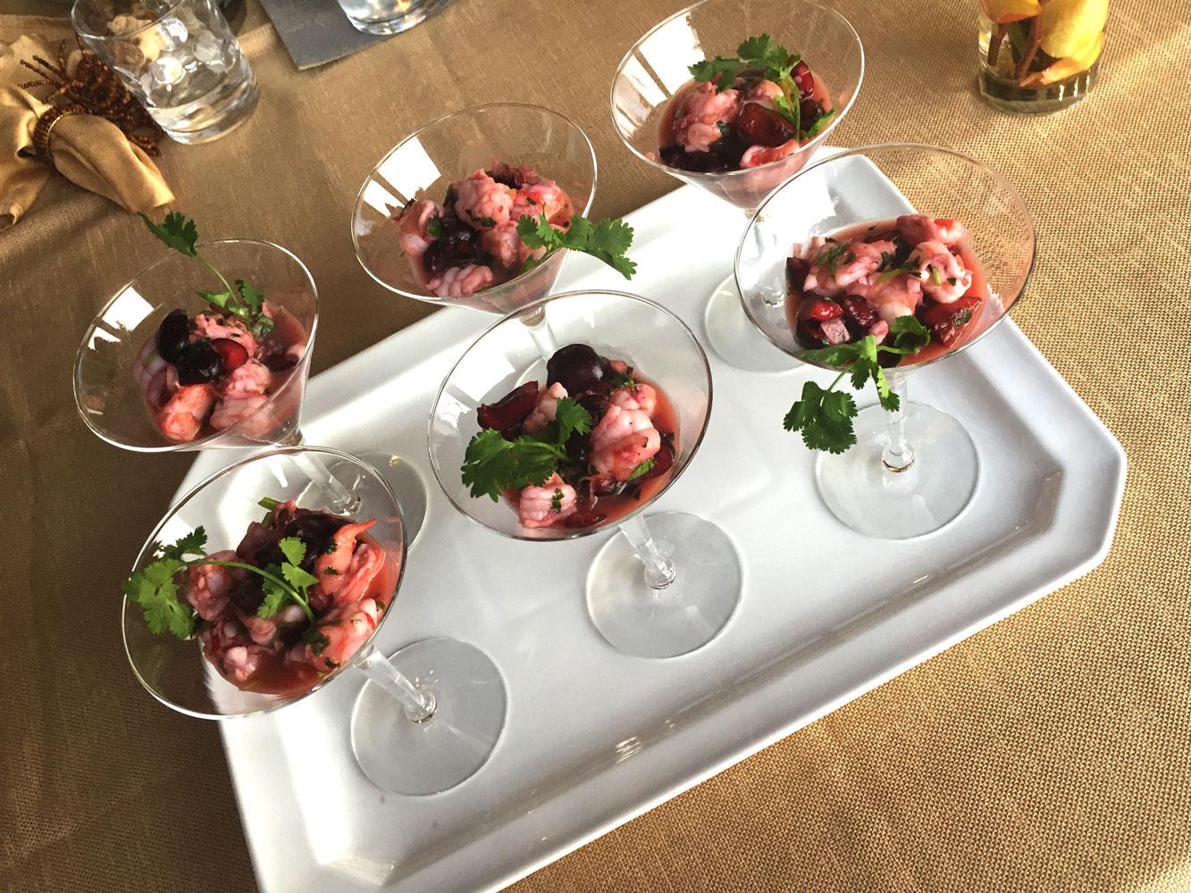 Private Chef Services Park City shrimp cocktail-glasses